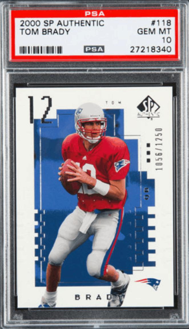 2000 SP Authentic Tom Brady