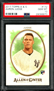 Aaron Judge Rookie Card Checklist