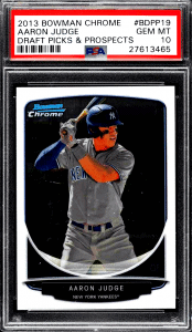 Aaron Judge Bowman Chrome Draft Picks