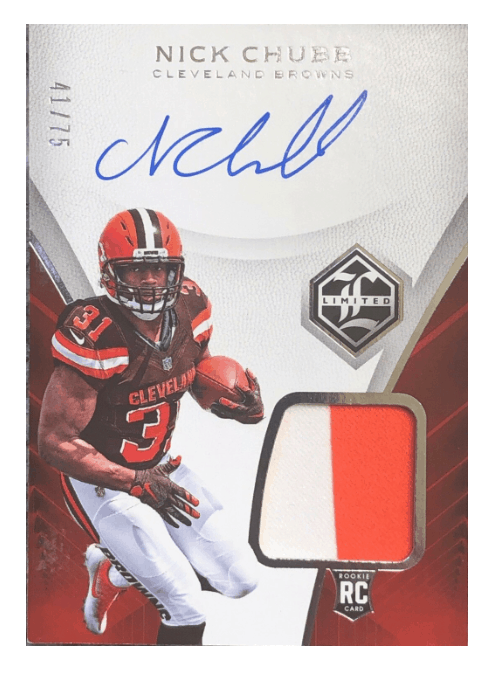 best nick chubb rookie card