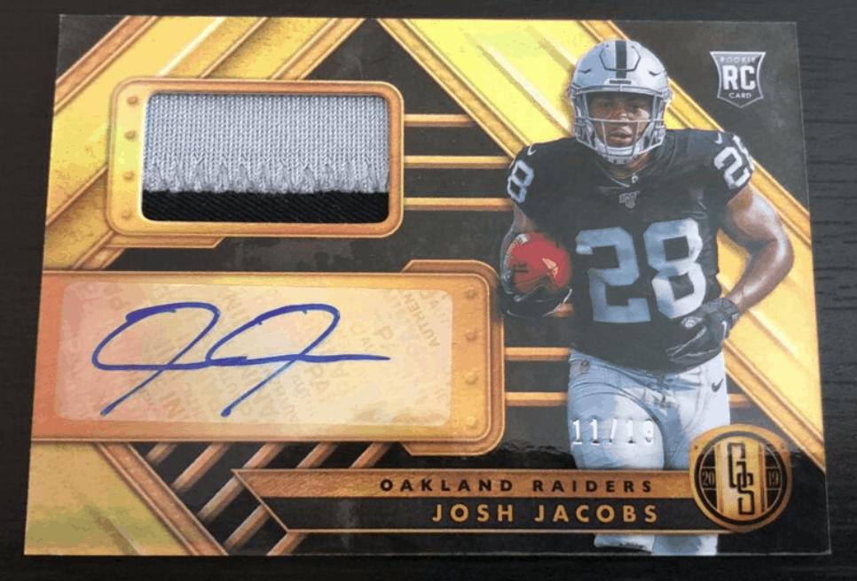 2019 Josh Jacobs Gold Standard Jumbo