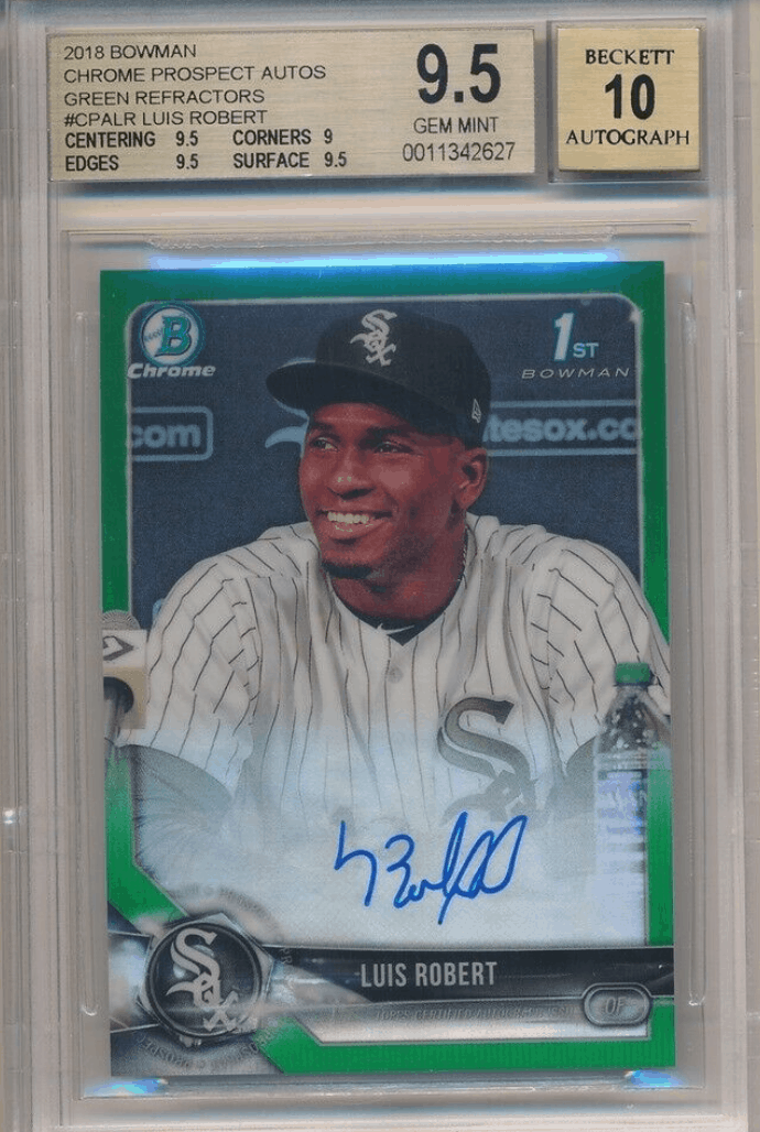 Luis Robert Rookie Card And Investment Report Top 3 Cards
