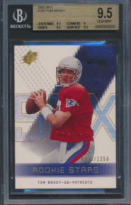 tom brady football card value