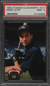 derek jeter stadium club rookie card