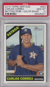 Carlos Correa Topps rookie card