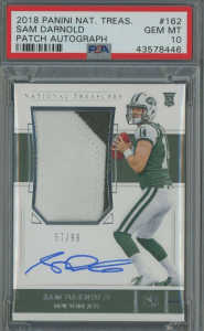sam darnold National Treasures rookie card