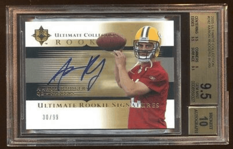 aaron rodgers auto rookie card