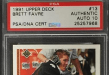 brett favre upper deck rookie card