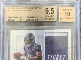 Lamar Jackson rookie card