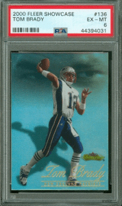 Fleer Showcase Tom Brady rookie card