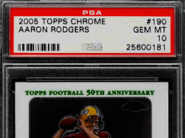 Aaron Rodgers Topps rookie card