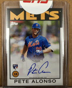 pete alonso rookie card topps