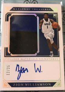 Zion Williamson Rookie Card Auto