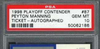 Peyton Manning Rookie Card
