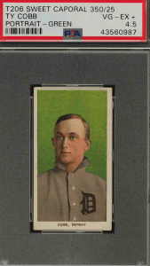 ty cobb t206 rookie card