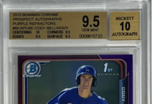 Cody Bellinger rookie card