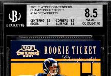 drew brees rookie card