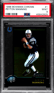 Peyton Manning Bowman Chrome Rookie Card
