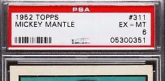 1953 mickey mantle baseball card