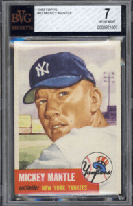 how much is a mickey mantle baseball card worth