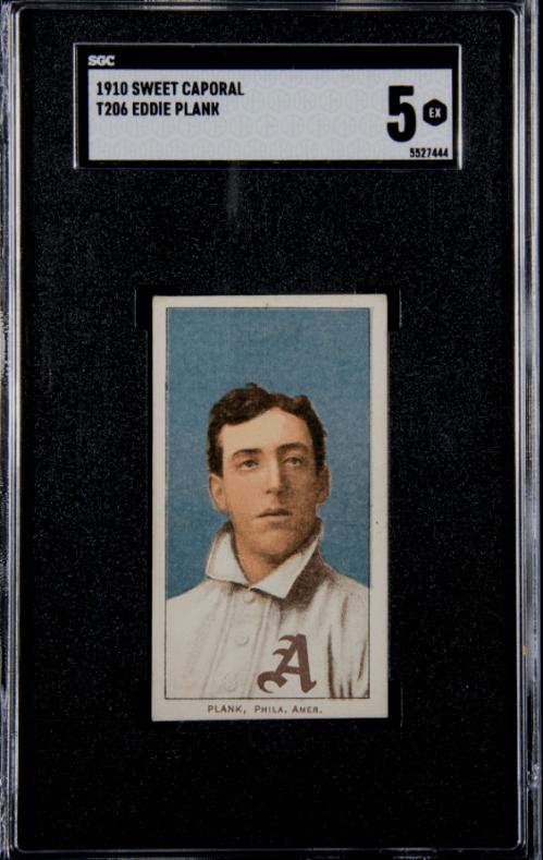 best t206 baseball cards eddie plank HOF