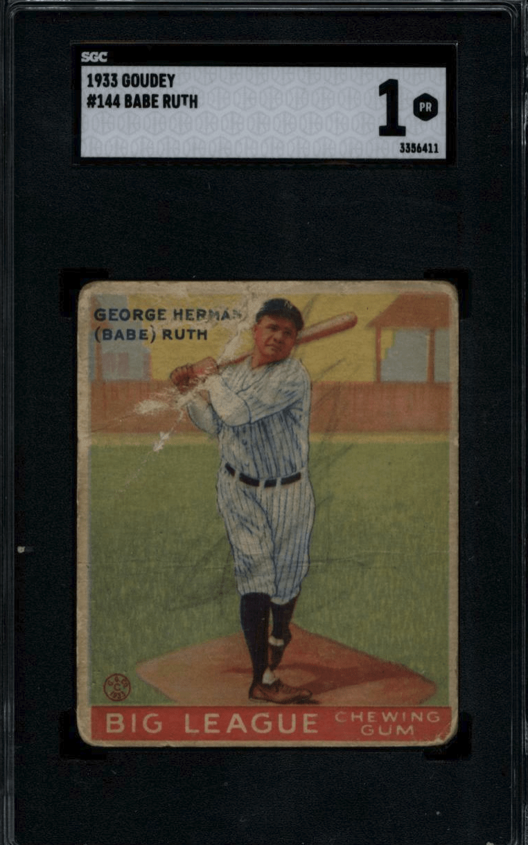 babe ruth signed rookie card