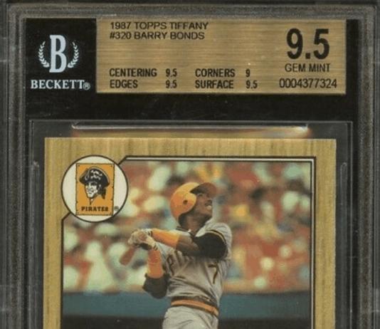 barry bonds rookie card value