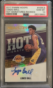 lonzo ball lakers rookie card