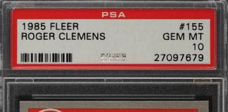 roger clemens fleer rookie card