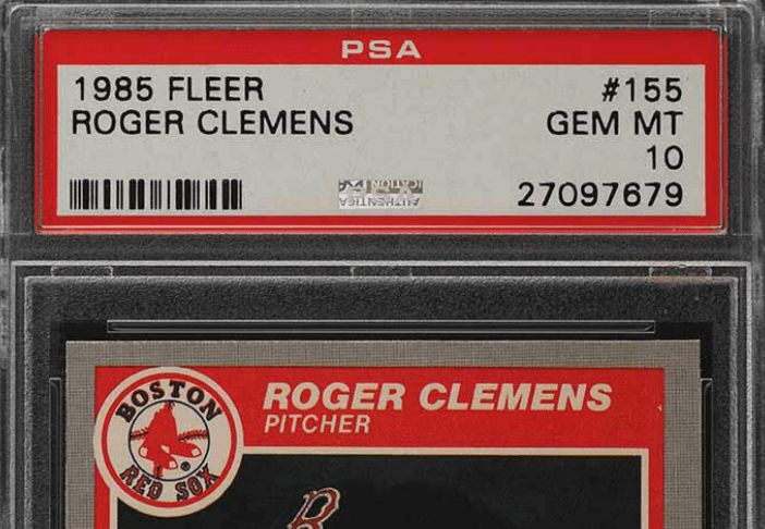 roger clemens fleer rookie card
