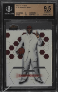 ebron james rookie card value