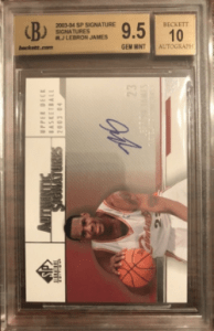lebron james card auto