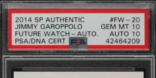 Jimmy Garoppolo rookie card