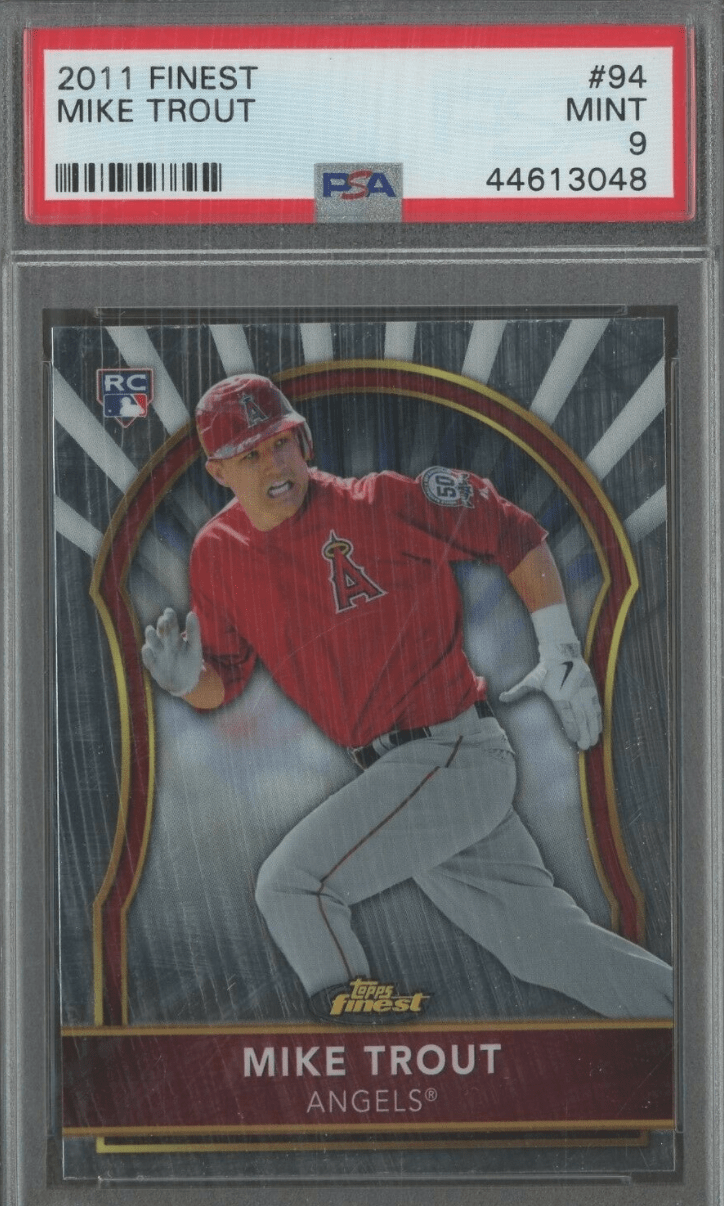 2011 Topps Finest mike trout