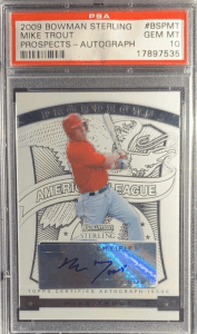 2009 Mike Trout Bowman Sterling Prospects