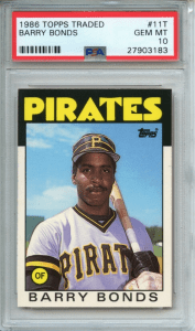 barry bonds topps traded