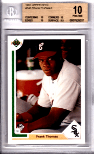 frank thomas rookie card worth