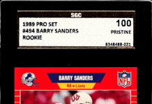 best barry sanders rookie cards
