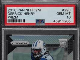 Derrick Henry rookie card prizm