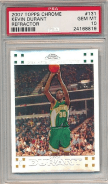 kevin durant rookie card value