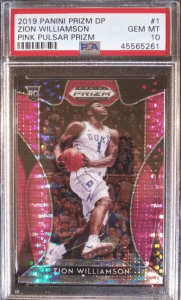 Zion Williamson rookie card signed