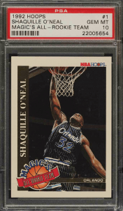 shaquille o'neal rookie card for sale