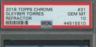 Gleyber Torres Rookie Card