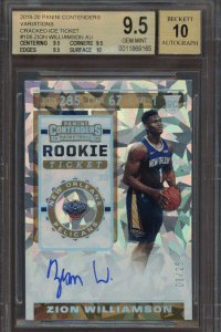 Zion Williamson Contenders Cracked Ice Rookie Ticket