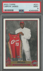 lebron james rookie card topps value
