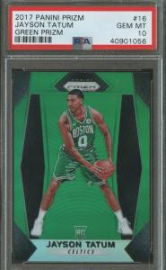 Jayson Tatum rookie card
