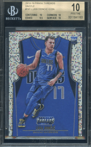 Panini Threads Luka Doncic Rookie Card