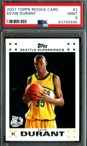 kevin durant topps rookie card