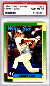 sammy sosa rookie card topps tiffany