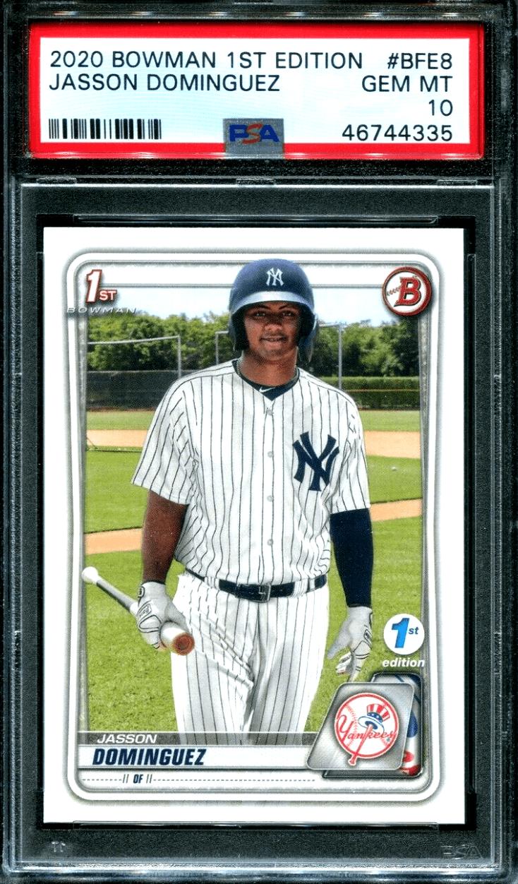Jasson Dominguez Bowman Rookie Card